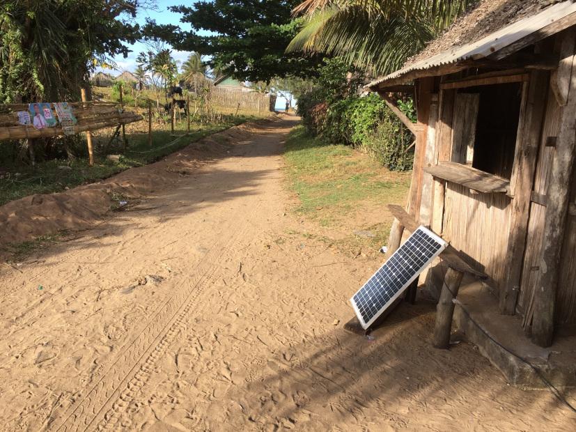 Panneau solaire chinois à Madagascar